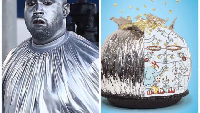 Kanye West vira meme ao surgir pintado de prateado. Estes são os melhores