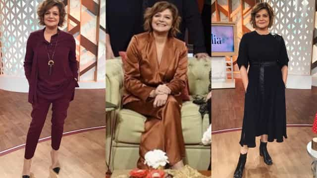 Júlia Pinheiro inicia a semana com looks monocromáticos