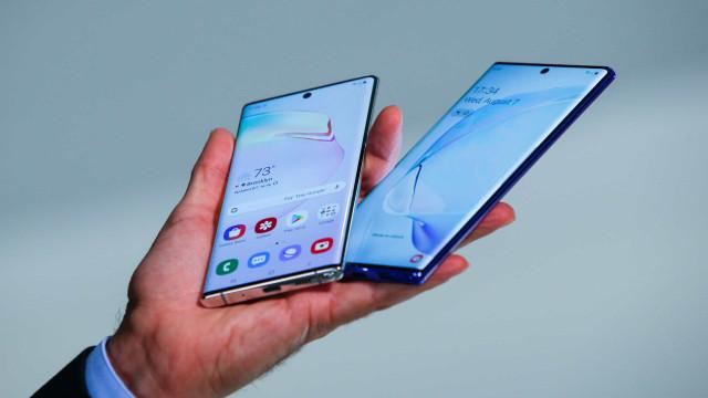 O novo Android  já chegou ao Galaxy Note 10