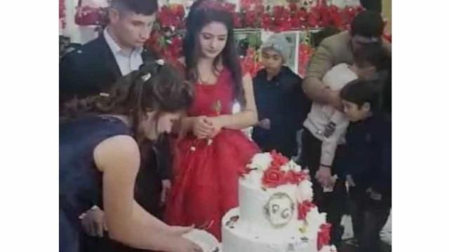 Noivo irritado durante corte do bolo estraga cerimónia