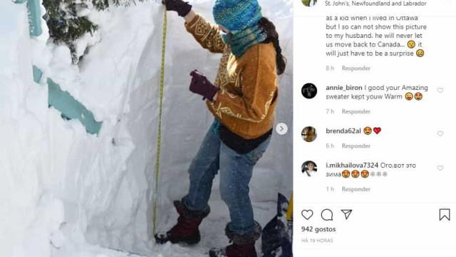 Internautas partilham fotos de Canadá pintado de branco após forte nevão