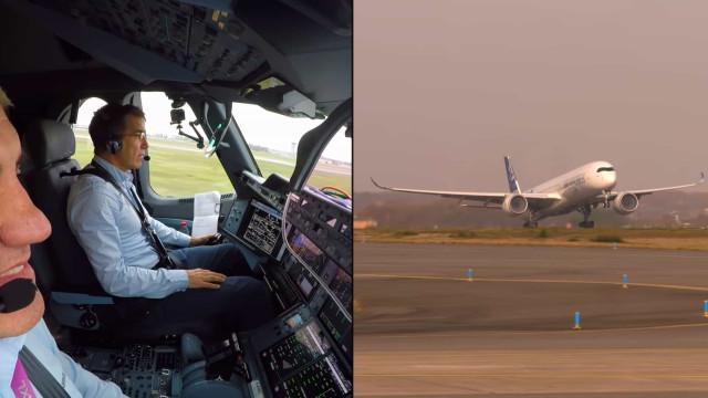 Avião da Airbus completou descolagem sem ajuda dos pilotos. Veja o vídeo