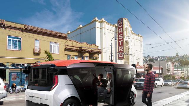 A General Motors desvendou um mini-autocarro autónomo