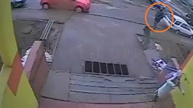 Menina de 9 anos despista homem que a seguiu até casa em vídeo arrepiante