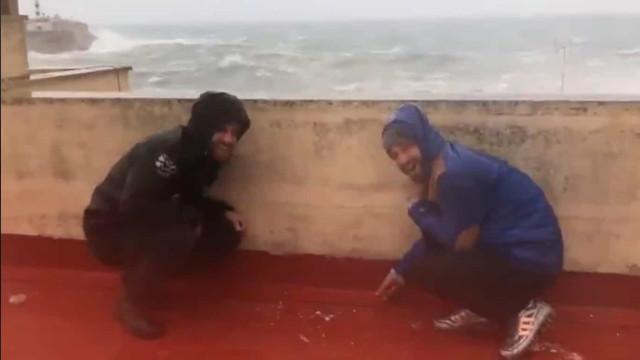 Tempestade Glória: Maiorca atingida por ondas gigantes