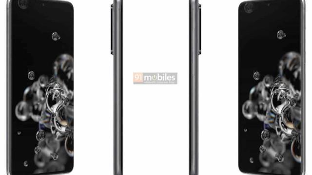 Galaxy S20. Aqui tem imagens dos três topos de gama da Samsung