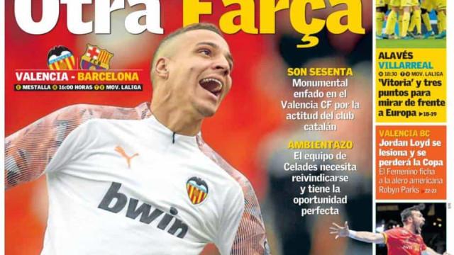 Lá fora: Ex-Benfica entre Valencia e Barcelona e o golpe do Inter