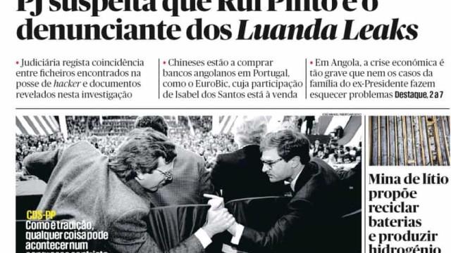 Hoje é notícia: Rui Pinto, denunciante do Luanda Leaks?; Gripe mata mais