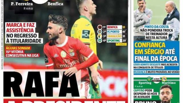 """Por cá: """"Rafa a presidente"""" e o Benfica a toda a velocidade"""