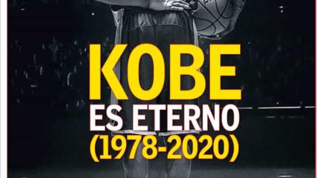 Lá fora: Morte de Kobe Bryant deixou lágrimas um pouco por todo o mundo