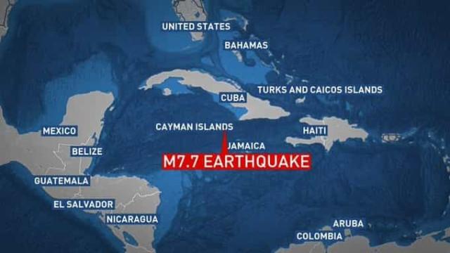 Sismo de magnitude 7,7 nas Caraíbas. Afastado perigo de tsunami