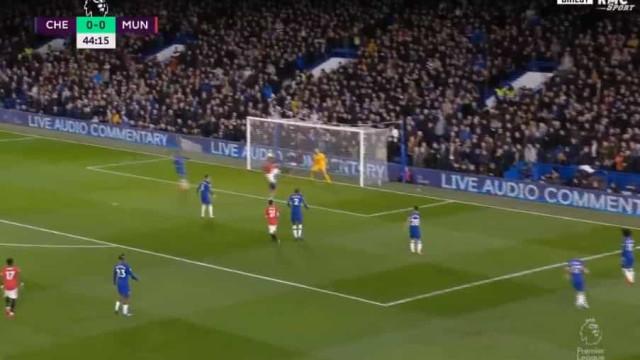 Martial marcou ao Chelsea após um verdadeiro 'baile' de Wan-Bissaka