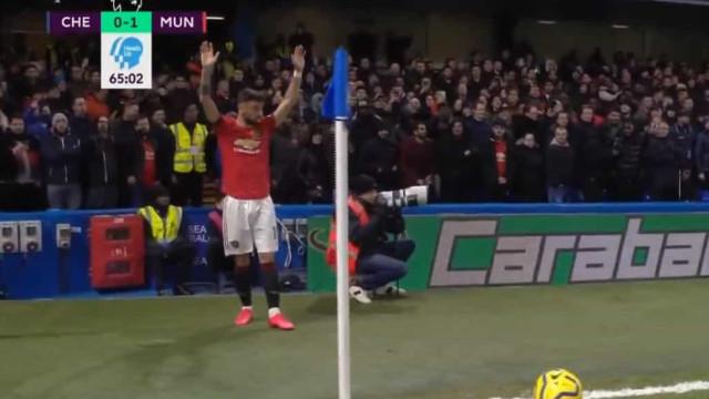 Eis a primeira assistência de Bruno Fernandes no United