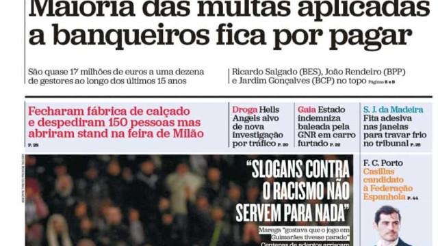 Hoje é notícia: Maioria das multas por pagar; Marco Paulo com novo cancro