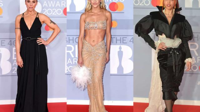 Os looks da passadeira vermelha dos Brit Awards