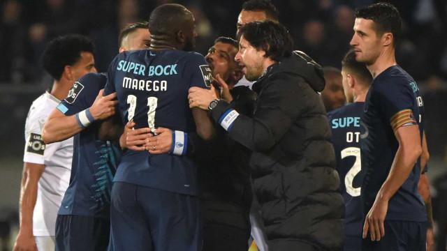 """Benfica condena """"deplorável ato de racismo de que Marega foi vítima"""""""