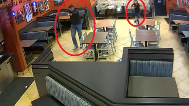 Tentou assaltar restaurante onde estava casal de polícias. Correu mal