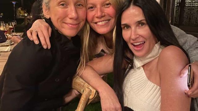 Gwyneth Paltrow convida famosas para festa sem maquilhagem