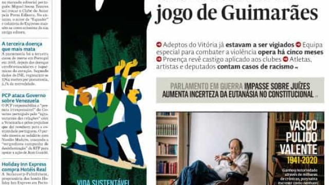 Hoje é notícia: 'Brigada' antirracismo em Guimarães; e-Toupeira parado