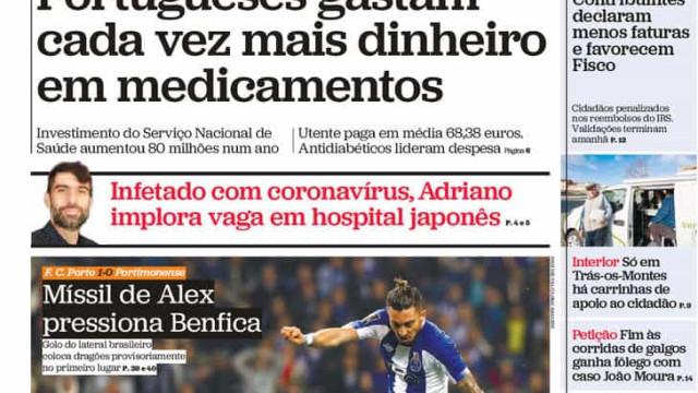 Hoje é notícia: Mais gastos em medicamentos; Ana Gomes 'destrona' Marcelo