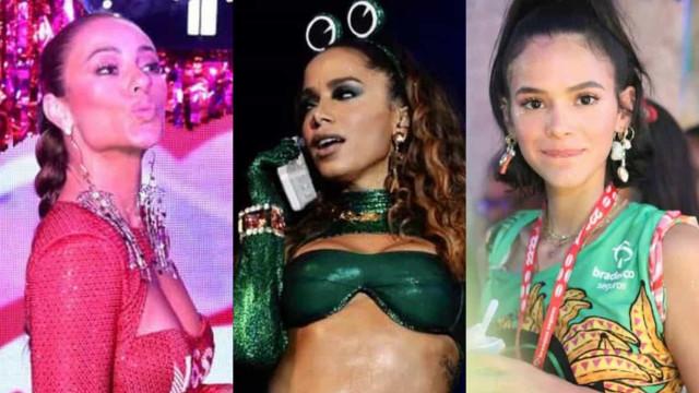 Paolla, Anitta, Bruna e outros famosos brasileiros no Carnaval de 2020