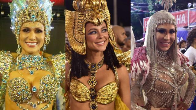 Famosas que brilharam como rainhas e musas no Carnaval do Rio de Janeiro
