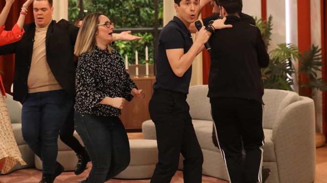 Vídeo. João Paulo Sousa surpreendido pela mãe em direto