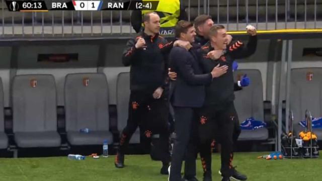 O golo de Kent que deixou o Sp. Braga em maus lençóis na Liga Europa