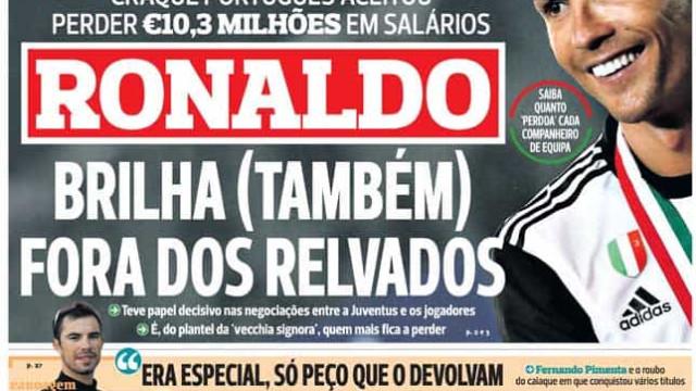Por cá: Ronaldo brilha fora dos relvados e o golo de ouro de Alex Telles