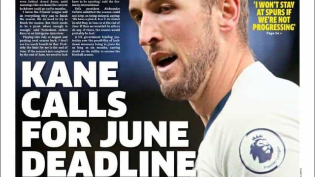 Lá fora: Harry Kane pode sair e Zidane com boas notícias
