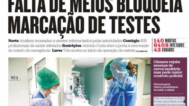 Hoje é notícia: DGS admite erro em contagem; 7 médicos em risco de vida