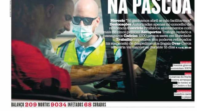 Hoje é notícia: Portugal fechado na Páscoa; Mais de 1 milhão de infetados