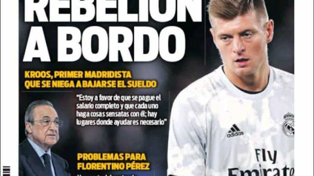 """Lá fora: Pede-se união e fala-se numa """"rebelião"""" no Real Madrid"""