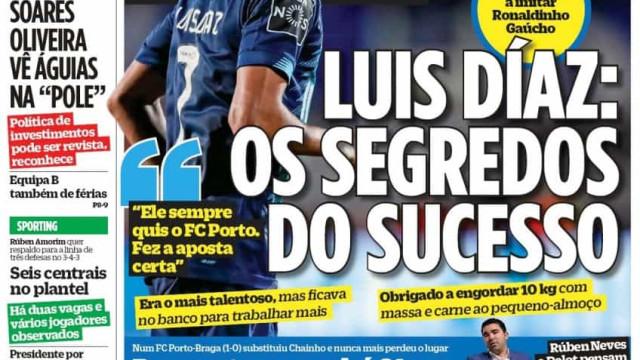 Por cá: Os segredos de Luis Díaz, Leão de ataque e os verdadeiros heróis