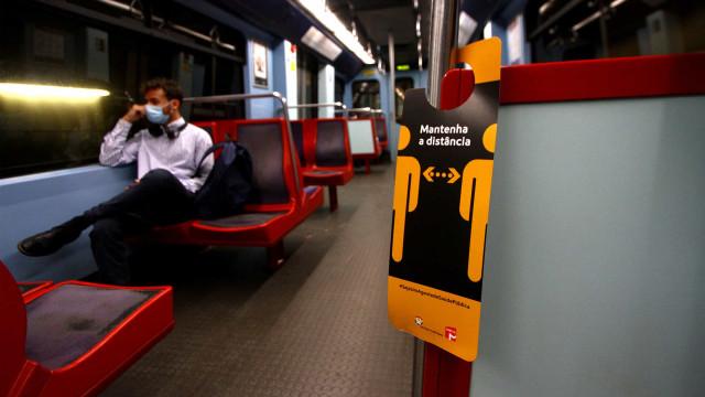 Assim se viaja no metro de Lisboa durante a pandemia da Covid-19