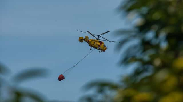 Helicóptero caiu em Góis com dois tripulantes. Um deles está ferido