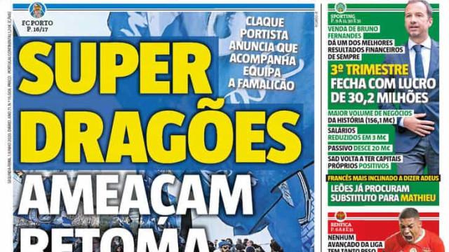 Super Dragões ameaçam retoma, o futebol puro e as eleições no FC Porto