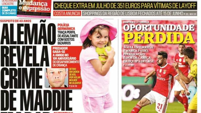 Hoje é notícia: Crime de Maddie revelado em bar; Travão por mais 10 dias