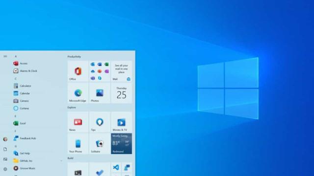 Microsoft prepara novo menu Iniciar para o Windows 10