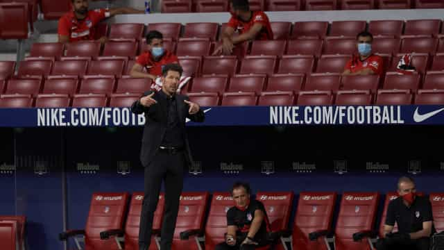 Simeone substituiu Félix aos 55 minutos e falou sobre ele no final