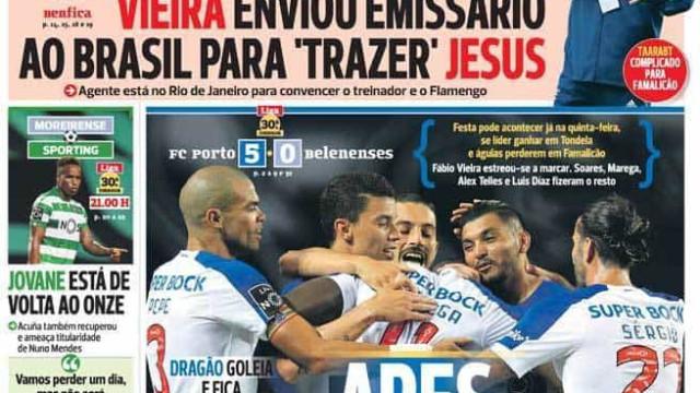 """Por cá: Dragão com """"ar de campeão"""", Leão a teste e a escolha de Vieira"""