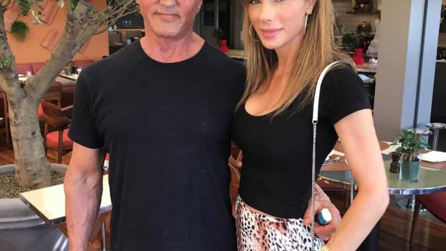 No dia em que fez 74 anos, Sylvester Stallone recebeu surpresa da mulher