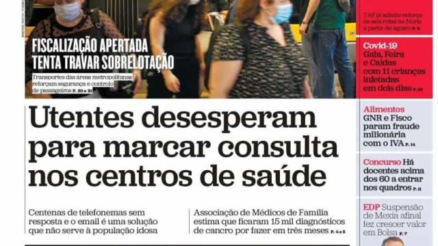 Hoje é notícia: Festas de arromba no Algarve; Desespero por consultas