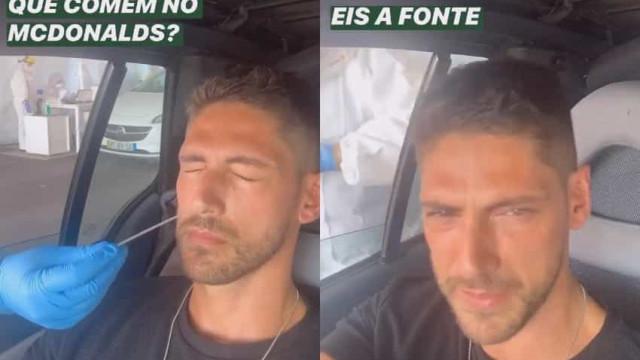 Ângelo Rodrigues com os olhos em lágrimas após fazer teste à Covid-19