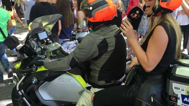 Há 4 anos, em cima de uma mota, Cristina recebia a seleção em euforia