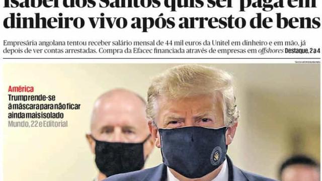 Hoje é notícia: Isabel dos Santos paga em dinheiro; Incendiários em queda
