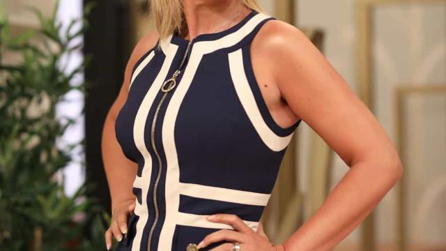 Silhueta de Cristina Ferreira em destaque em vestido justo