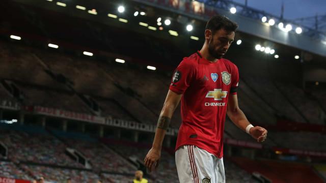 United, de Bruno Fernandes, cai à beira do fim e falha ataque ao pódio
