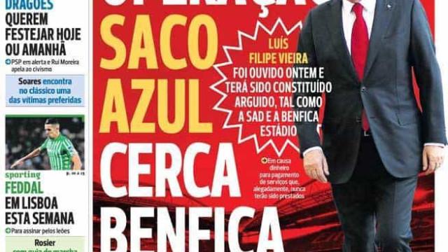 Por cá: Saco azul cerca Benfica, o desejo do leão para a baliza e Otávio