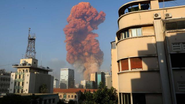 """Forte explosão em Beirute. Há um """"número elevado de feridos"""""""